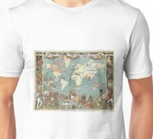 Vintage British Empire World Map (1886) Unisex T-Shirt