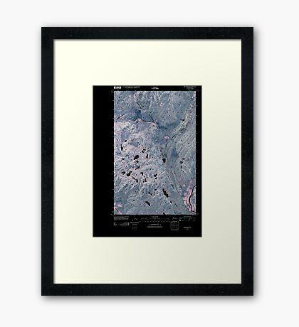 USGS Topo Map Washington State WA Riverside 20110503 TM Inverted Framed Print