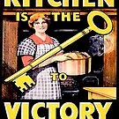 'The Kitchen is Key' cards and prints by BettyBanana