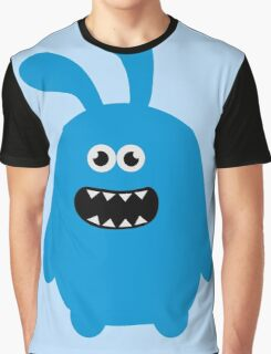 Funny Cute & Crazy Bunny Graphic T-Shirt