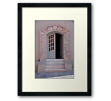 Entrance of Santorini Framed Print