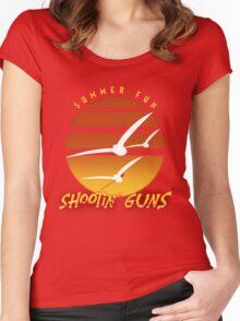 Summer Fun Shootin' Guns Women's Fitted Scoop T-Shirt