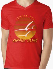 Summer Fun Shootin' Guns Mens V-Neck T-Shirt