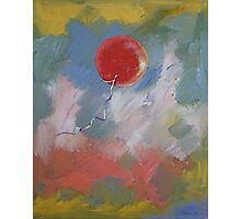 Goodbye Red Balloon Photographic Print