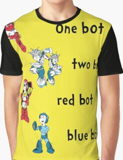 One bot, two bot, red bot, blue bot Graphic T-Shirt