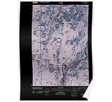 USGS Topo Map Washington State WA Winlock 20110405 TM Inverted Poster