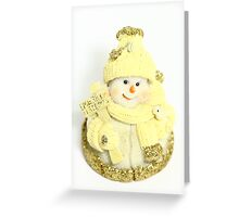 Snowman Ornament - Christmas (2) Greeting Card