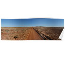 Journeys End - Outback Australian road Poster