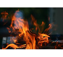 Hungry Flames Photographic Print