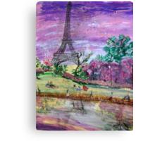 Spring Dusk Along the River Seine Canvas Print