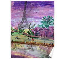 Spring Dusk Along the River Seine Poster