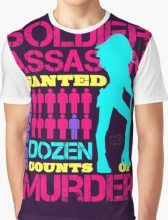 Soldier, Assassin, Wanted For Murder Graphic T-Shirt