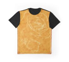 Pink Roses in Anzures 2 Outlined Orange Graphic T-Shirt