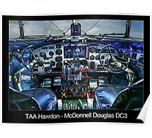 TAA Hawdon - McDonnell Douglas DC3 Poster