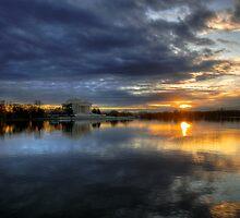 Jefferson Sunset, Washington D.C. by strangelight