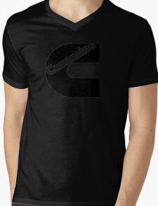 Black Cummins Logo Mens V-Neck T-Shirt