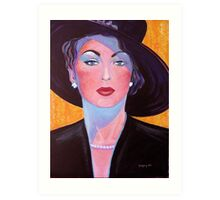 Glamorous Lady from the Fifties Art Print