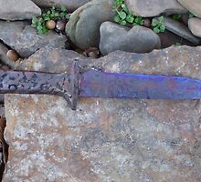 Malleare' Art - Carbon Steel Bowie Knife by PaulCoover
