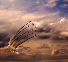 Red Arrows 6 by Epicurian