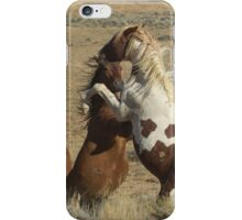 Wild Fighting Horses-Signed-2698 iPhone Case/Skin