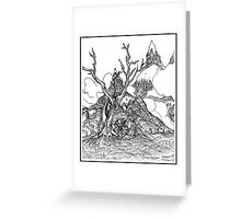 Castles in the Sky Pen Drawing Greeting Card