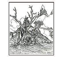 Castles in the Sky Pen Drawing Photographic Print