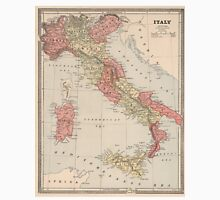 Vintage Map of Italy (1883) Unisex T-Shirt