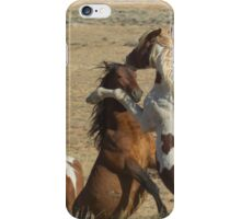 Fighting Wild Horses-Signed-2699 iPhone Case/Skin