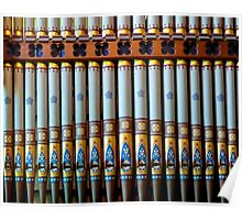 Colourful organ pipes Poster