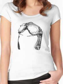 Dotwork Retro Aviator Goggles Women's Fitted Scoop T-Shirt