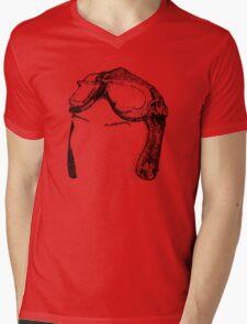 Dotwork Retro Aviator Goggles Mens V-Neck T-Shirt