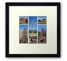 Country Collage Framed Print