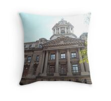 Classic Architecture, Former Police Headquarters, Centre Street, Lower Manhattan, New York City Throw Pillow