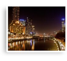 Melbourne in fog Canvas Print