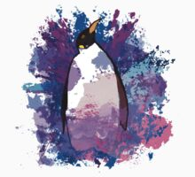 Watercolour Penguin Baby Tee