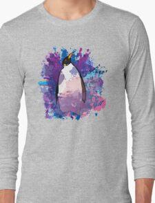 Watercolour Penguin Long Sleeve T-Shirt