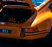 Orange Porsche 911 Rear by Stuart Row