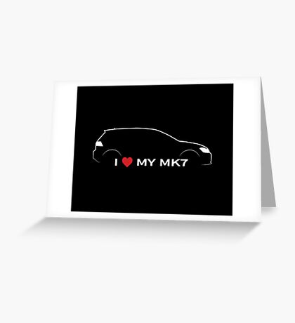 I Love My MK7 Greeting Card