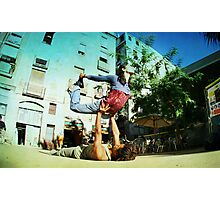Acroyoga in the streets of Barcelona  Photographic Print