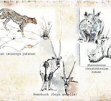 Wildlife Triptych by Maree  Clarkson