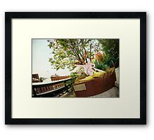 Yoga at High Line Park, New York Framed Print