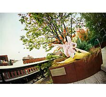 Yoga at High Line Park, New York Photographic Print