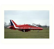 Red Arrows Hawk T1 Art Print