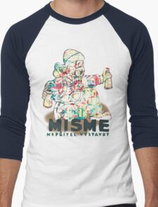 Universal Psychedelic Spray Boy Men's Baseball ¾ T-Shirt
