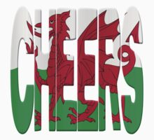 Cheers + Welsh flag Kids Clothes