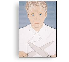 Chef Gordon Ramsay Portrait Canvas Print