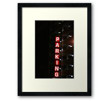 Lighted Parking Framed Print