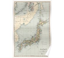 Vintage Map of Japan (1892) Poster