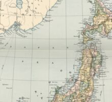 Vintage Map of Japan (1892) Sticker