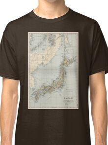 Vintage Map of Japan (1892) Classic T-Shirt